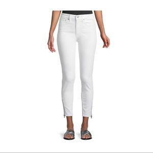 Levi's 721 High Rise Side Zip Skinny Altered Jeans